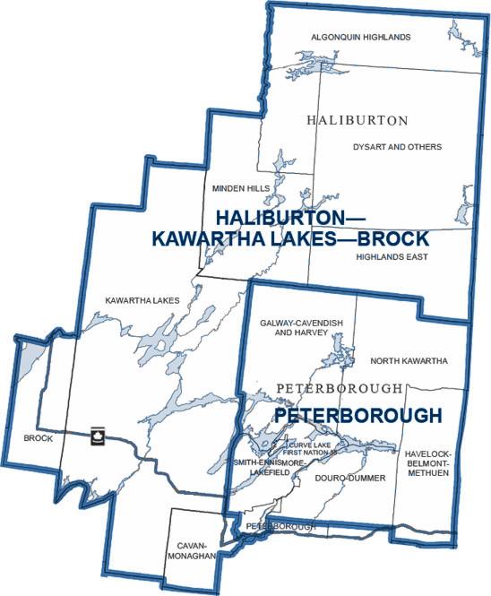 Haliburton Kawartha Lakes Brock Riding Map